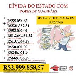Dívida do Estado com o Município de Dores de Guanhães