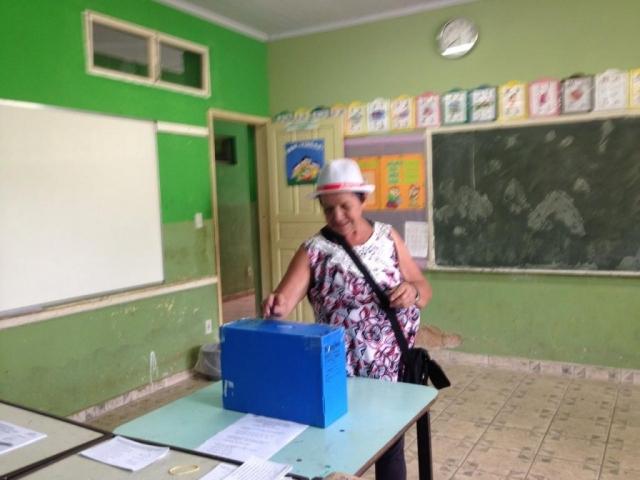 Votação tranquila e organizada
