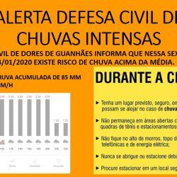Alertas das autoridades de Minas Gerais e Defesa Civil Municipal